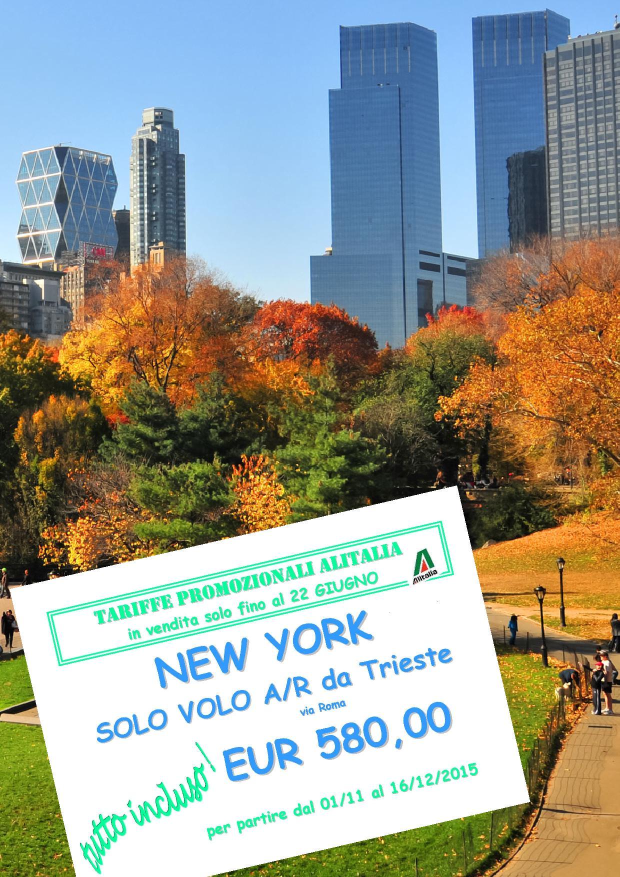 New york agenzia di viaggi for Pacchetti volo e soggiorno new york