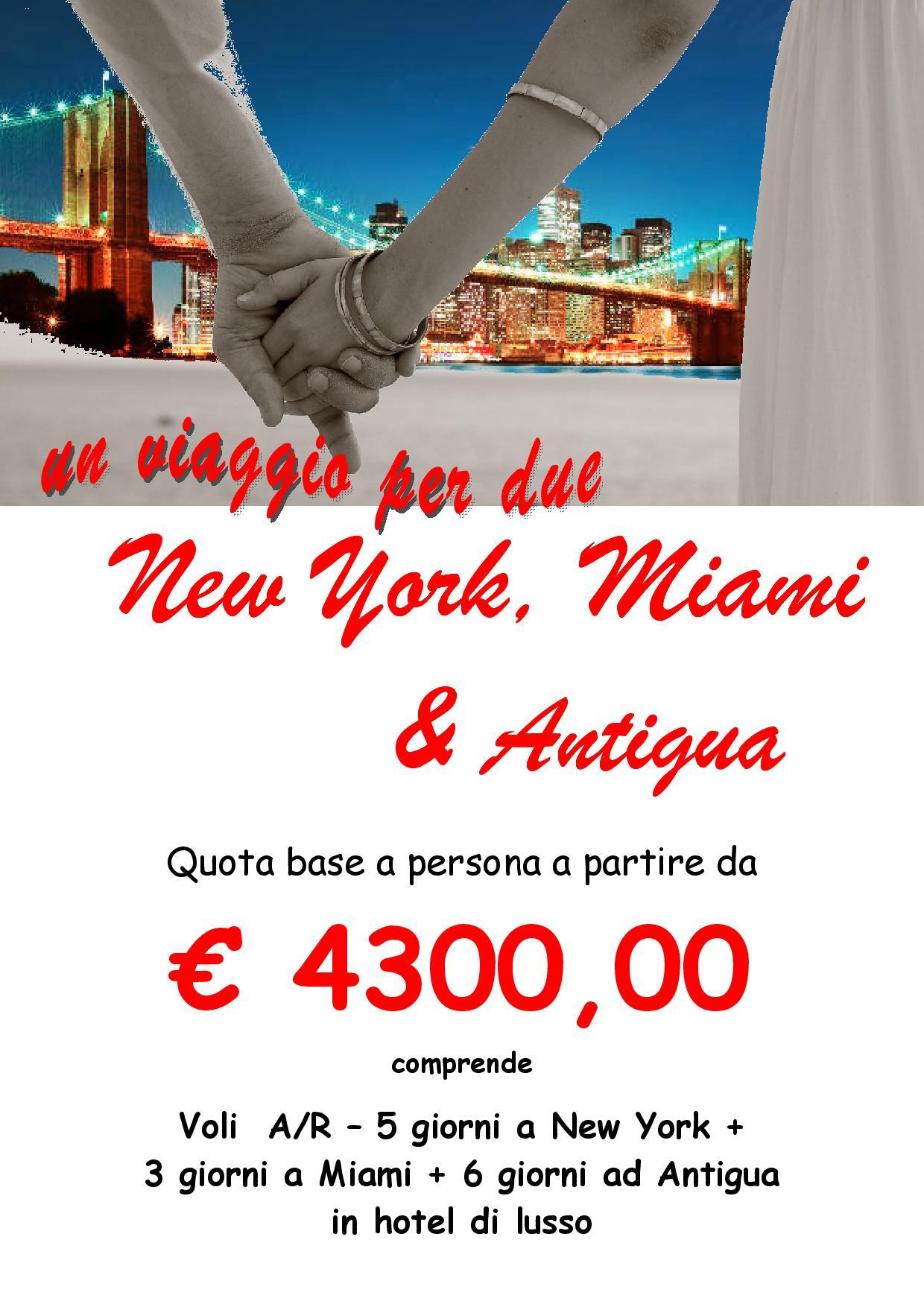 Miami agenzia di viaggi for Pacchetti volo e soggiorno new york