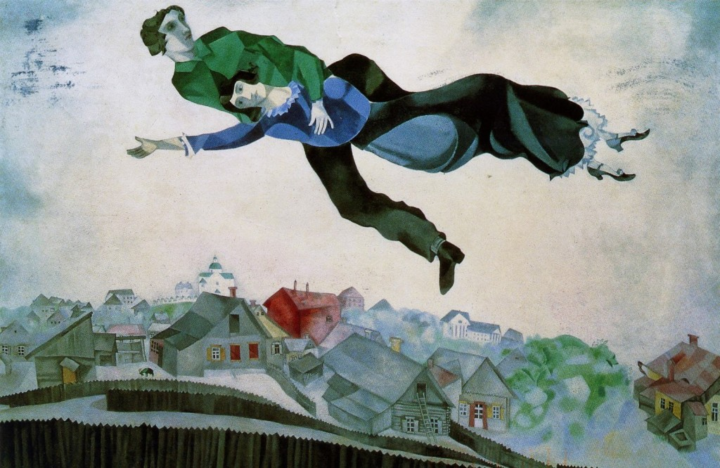 chagall over the town