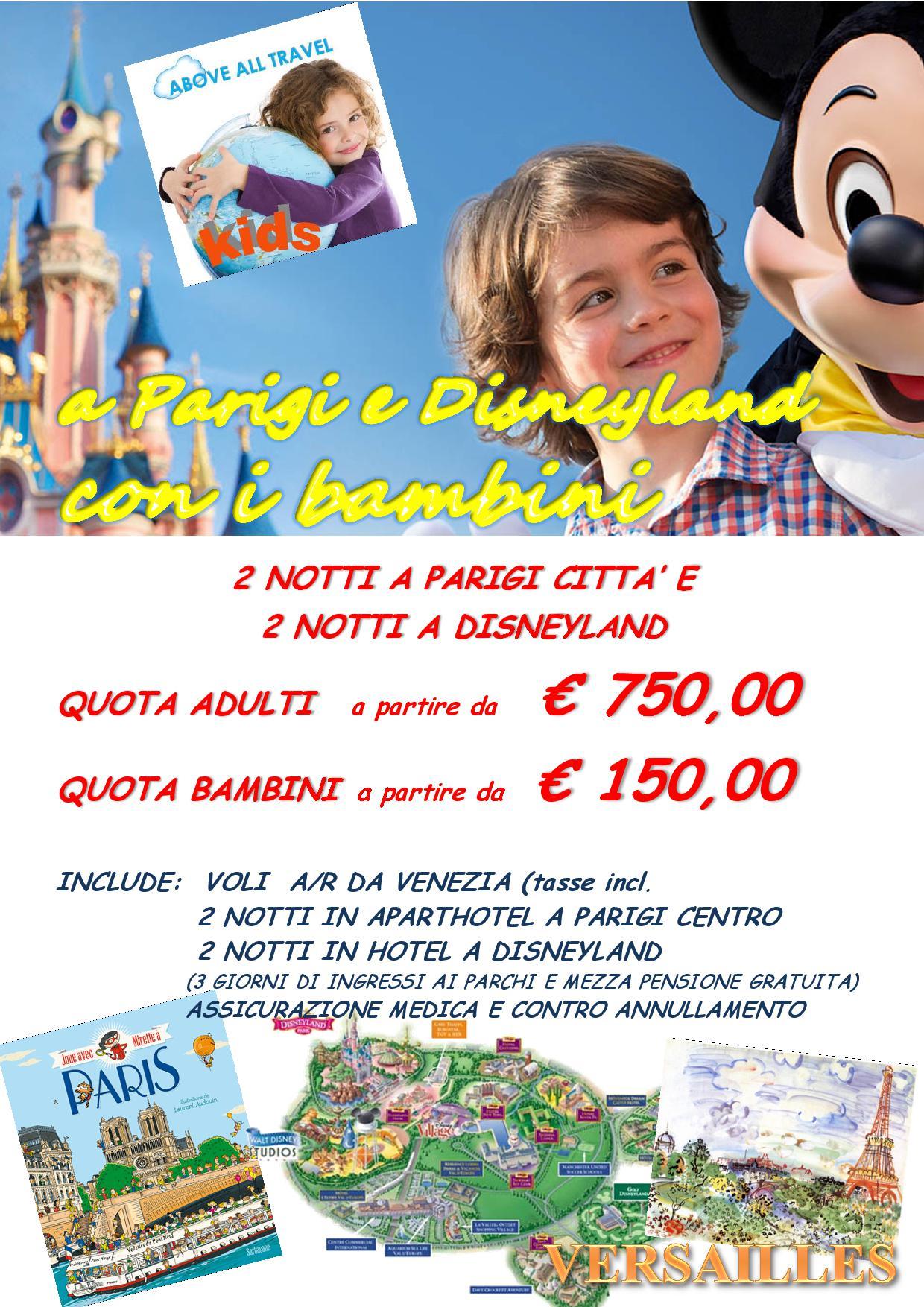 Above all travel kids agenzia di viaggi for Pacchetti eurodisney volo soggiorno