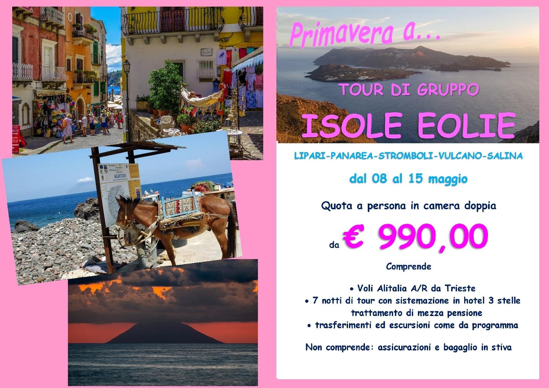 TOUR DELLE ISOLE EOLIE